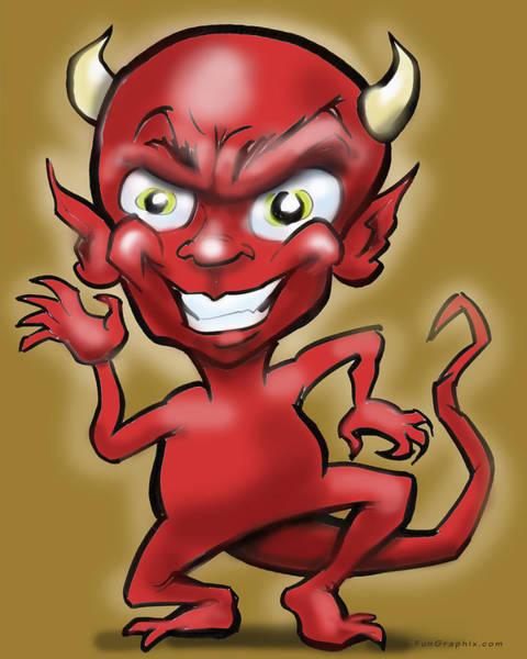 Digital Art - Little Devil by Kevin Middleton