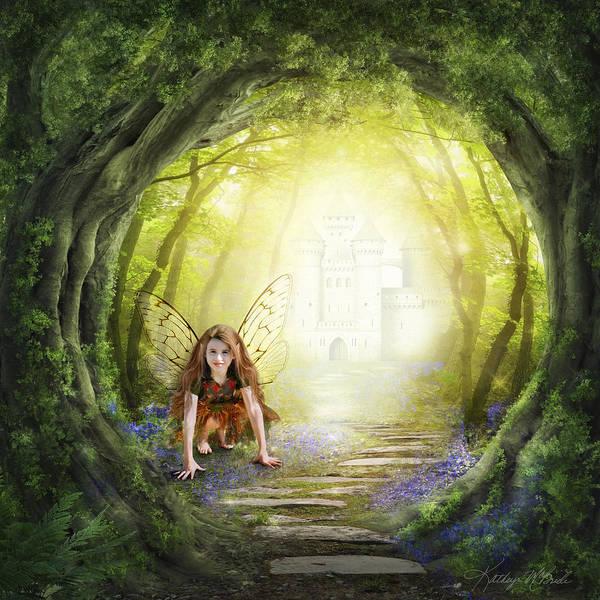 Digital Art - Little Fairy In The Woods by Kathryn McBride