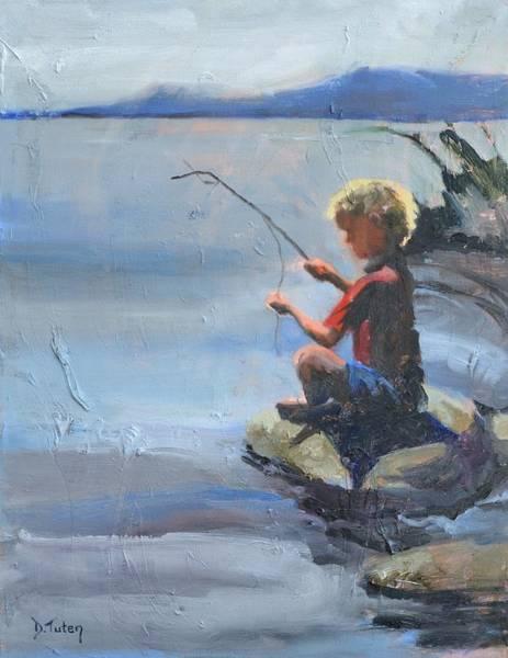 Painting - Little Fisherman by Donna Tuten
