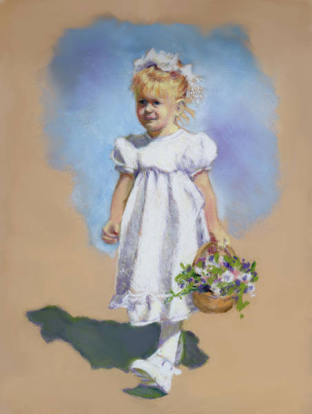 Wall Art - Painting - Little Flower Girl by Joyce Geleynse