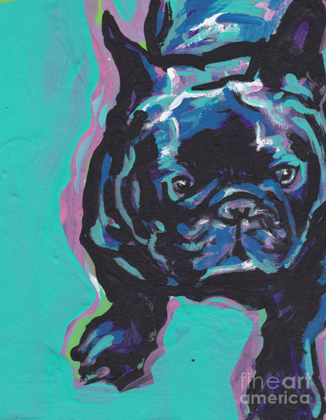 French Bulldog Painting - Little French Bully by Lea S