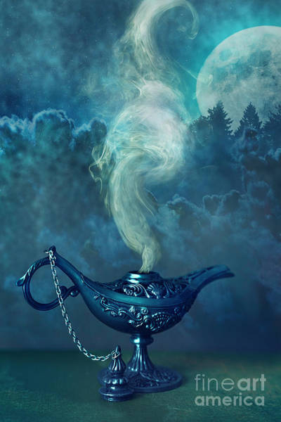Photograph - Little Genie Lamp With Smoke by Sandra Cunningham