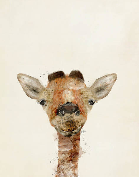 Small Painting - Little Giraffe by Bri Buckley