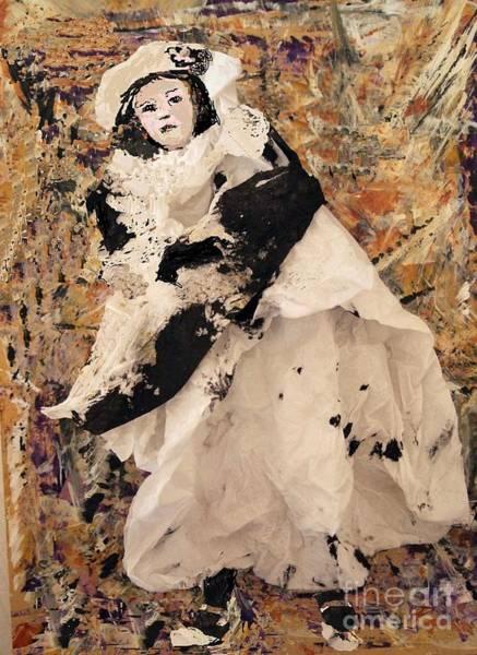 Paper Dress Mixed Media - Little Girl by Nancy Kane Chapman