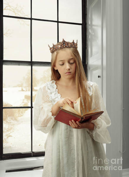 Wall Art - Photograph - Little Girl Reading Book by Amanda Elwell