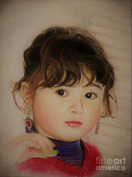 Painting -  Little Girl by Sorin Apostolescu