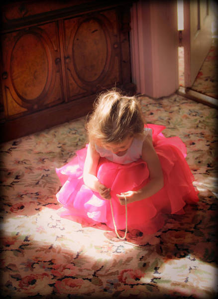 Photograph - Little Girl With Pearls 2 by Bonnie Follett