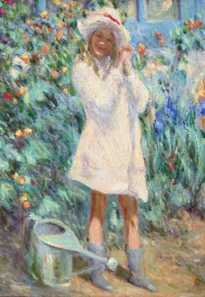 Little Girl With Roses / Detail Art Print