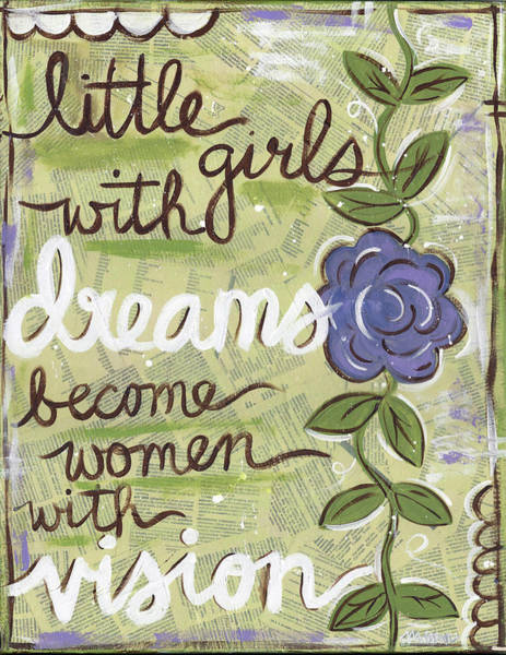 Painting - Little Girls With Dreams Become Women With Vision by Monica Martin