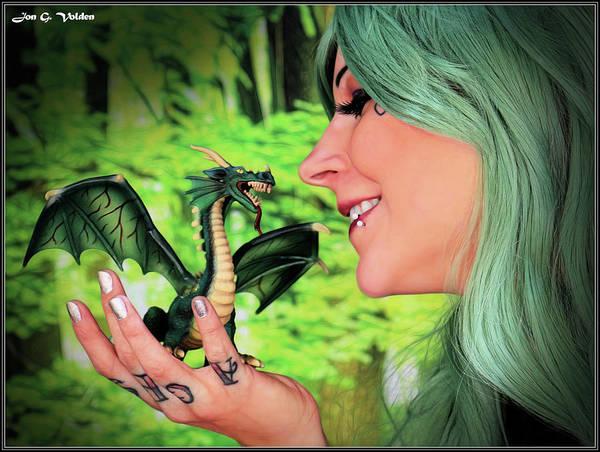 Photograph - Little Green Dragon by Jon Volden