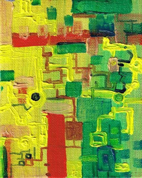 Painting - Little Green Machine by Regina Valluzzi