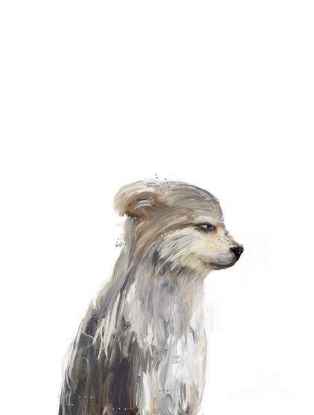 Fauna Painting - Little Grey Wolf by Bri Buckley