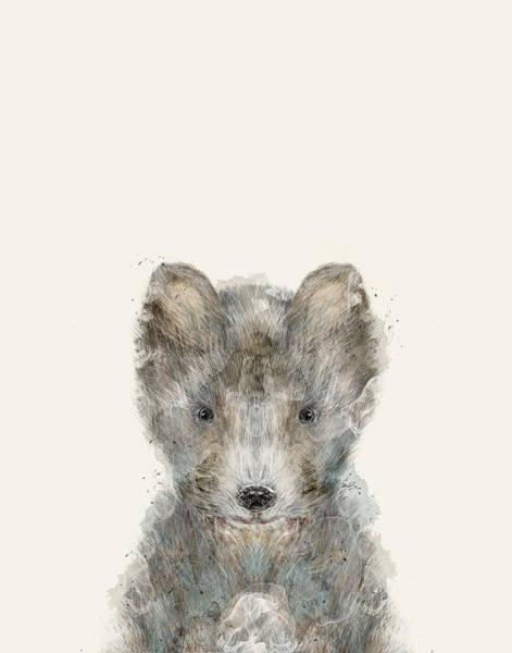 Cub Painting - Little Grey Wolf by Bri Buckley