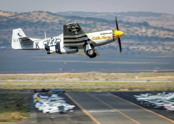 Photograph - P51 Mustang Little Horse Gear Coming Up Friday At Reno Air Races 5x7 Aspect by John King