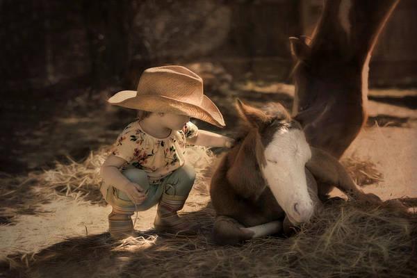 Photograph - Little Horse Whisperer by Robin-Lee Vieira