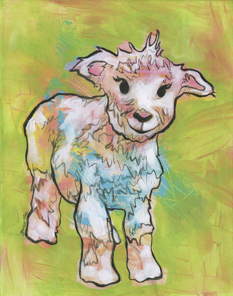 Painting - Little Lamb by Darcy Lee Saxton