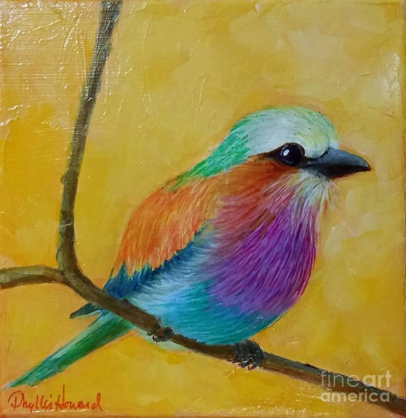 Painting - Little Lilac Breasted Roller by Phyllis Howard