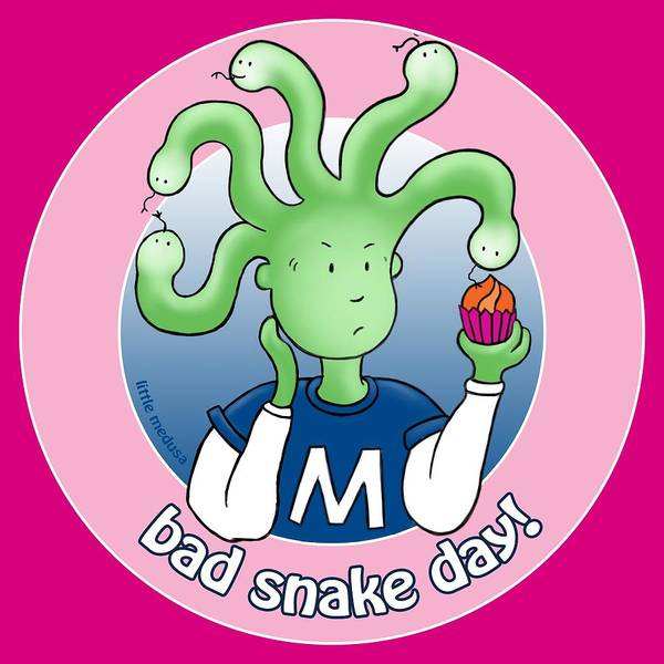 Icing Digital Art - Little Medusa. Bad Snake Day. by David Brodie