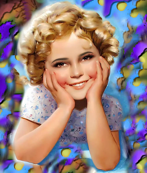 Digital Art - Little Miss Shirley by Karen Showell