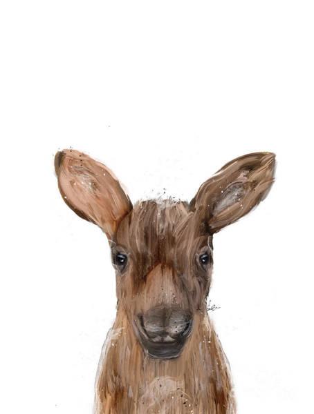 Moose Painting - Little Moose by Bri Buckley