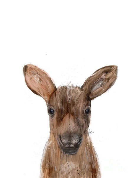 Wall Art - Painting - Little Moose by Bri Buckley