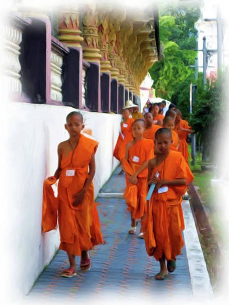 Little Novice Monks 2 Art Print