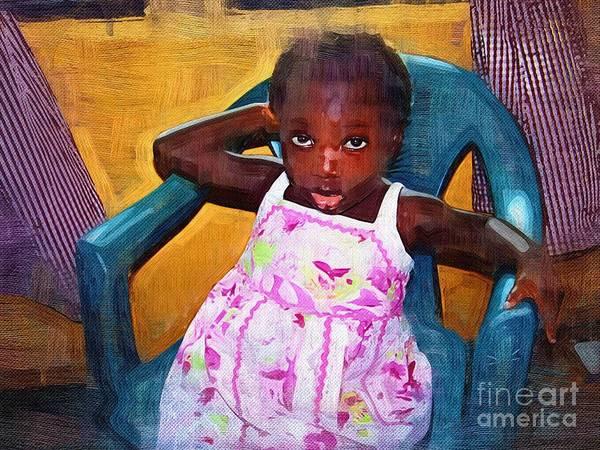 Ghana Painting - Little Orphan Girl by Deborah Selib-Haig DMacq