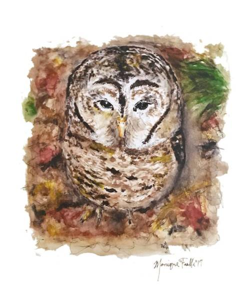 Painting - Little Owl by Monique Faella