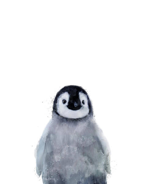 Wall Art - Mixed Media - Little Penguin by Amy Hamilton