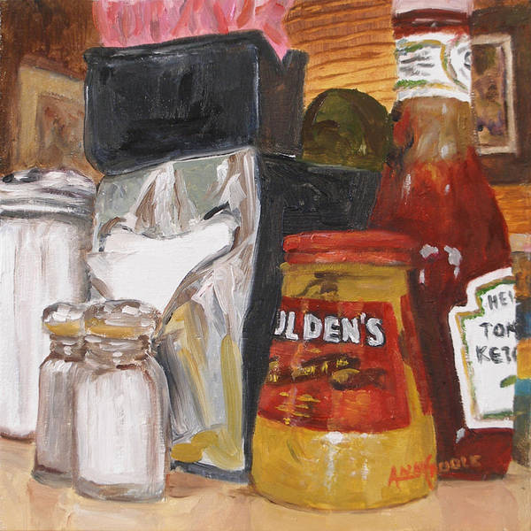 Catsup Painting - Little Pete's Diner by Ann Caudle