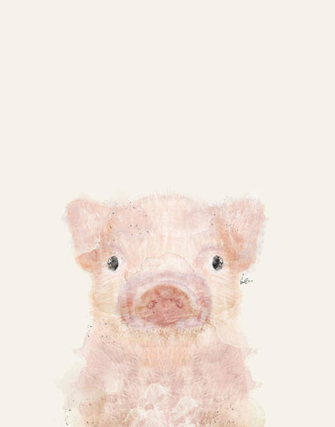 Pig Painting - Little Pig by Bri Buckley
