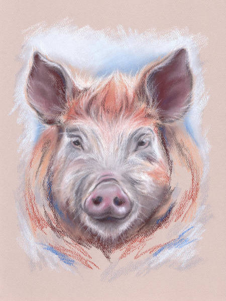 Pastel - Little Pig by MM Anderson
