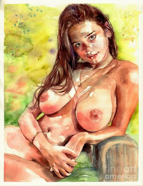 Naked Woman Painting - Little Poison by Suzann's Art