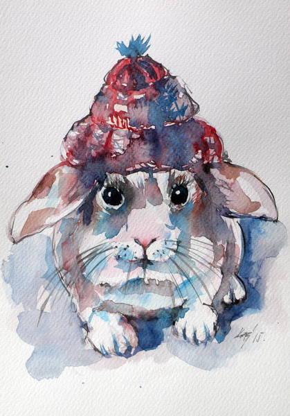 Wild Rabbit Painting - Little Rabbit by Kovacs Anna Brigitta