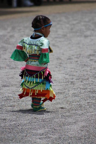 Photograph - Little Rays Of Sunshine Little Girl At Pow Wow Colorful Photograph by Colleen Cornelius