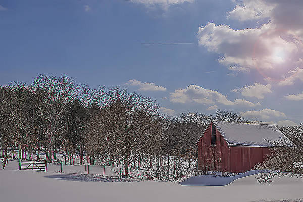 Wall Art - Photograph - Little Red Barn by Dave Sandt