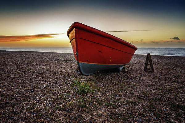Photograph - Little Red Boat by James Billings