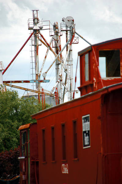 Red Caboose Photograph - Little Red Caboose by Jame Hayes