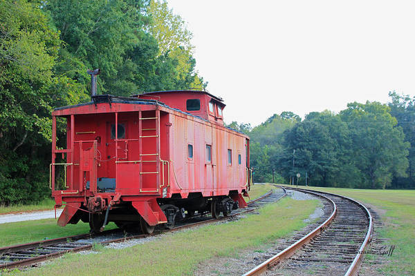 Red Caboose Photograph - Little Red Caboose by Suzanne Gaff