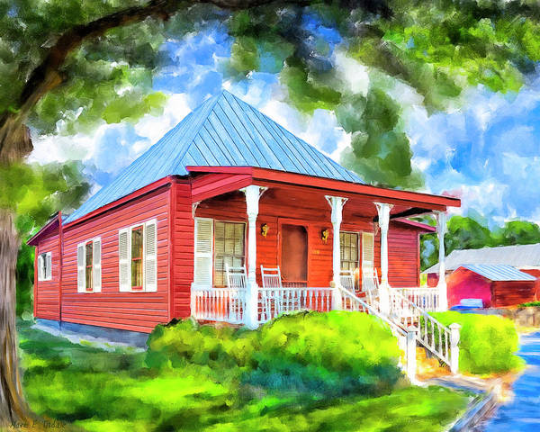 Wall Art - Mixed Media - Little Red Cottage by Mark Tisdale