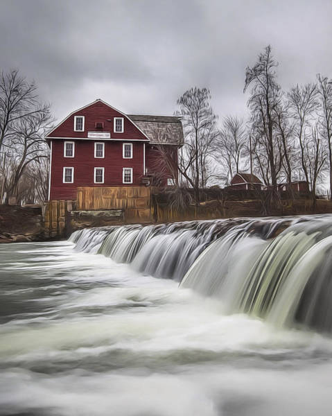 Painting - Little Red Mill by Joe Sparks