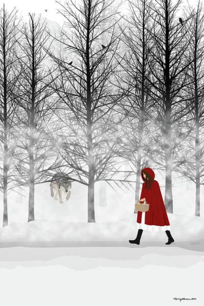 Digital Art - Little Red by Nancy Levan