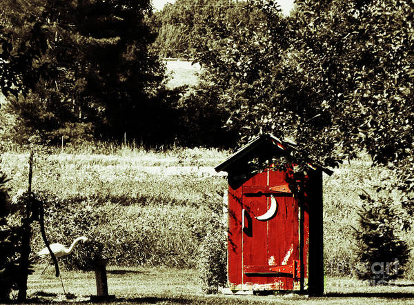Little Red Outhouse Art Print