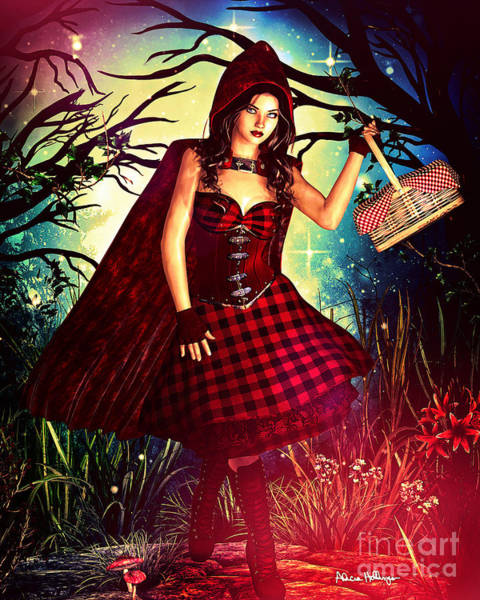 Digital Art - Little Red Riding Hood by Alicia Hollinger