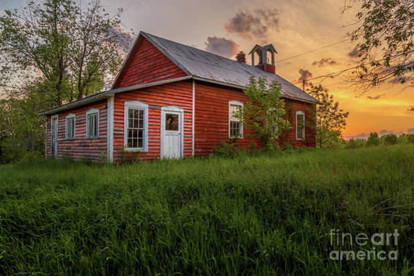 Photograph - Little Red School House by Roger Monahan