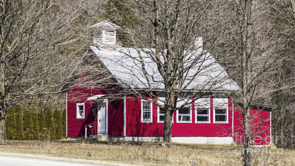 Photograph - Little Red School House by Scenic Vermont Photography