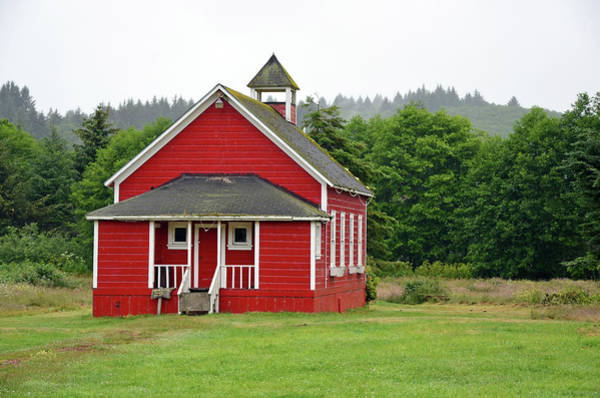 Pioneer School Photograph - Little Red Schoolhouse by Perl Photography