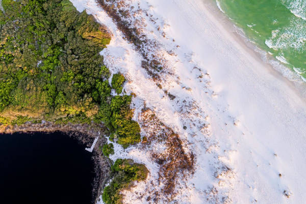 Little Redfish Lake Nestles The Gulf Art Print