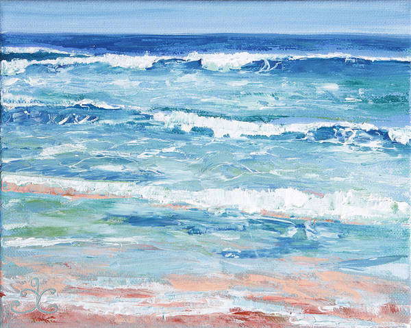 Painting - Little Riptides by Trina Teele