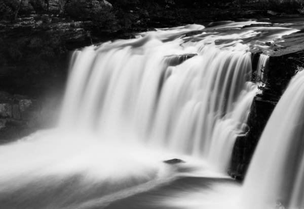 Photograph - Little River Falls In Monochrome by Parker Cunningham